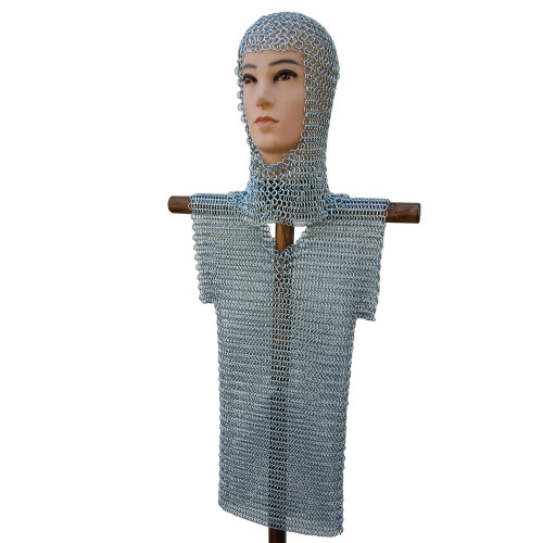 Medieval Half Sleeve Child Haubergeon Chainmail