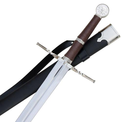 Hunters Wild Silver Wolf Battle Sword