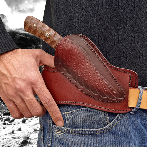 Damascus Steel Northern Heights Hunting Knife