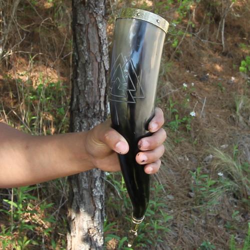 Unknown Valknut Warrior Drinking Horn