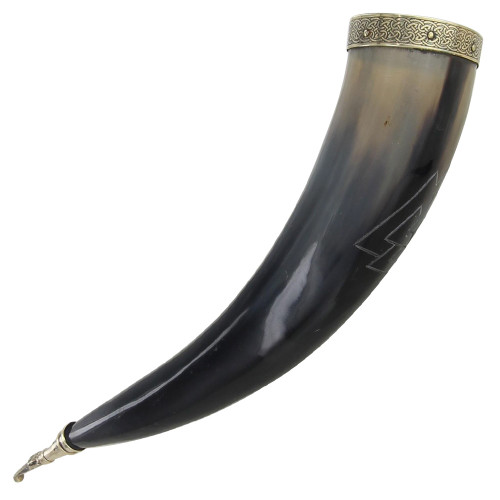 Unknown Valknut Warrior Drinking Horn