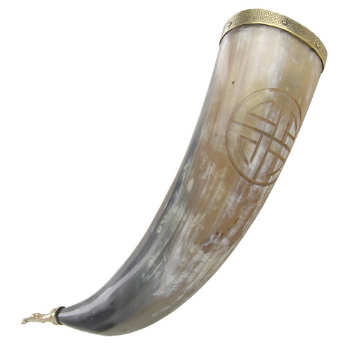 Drinking Horn Shield Knot Vessel