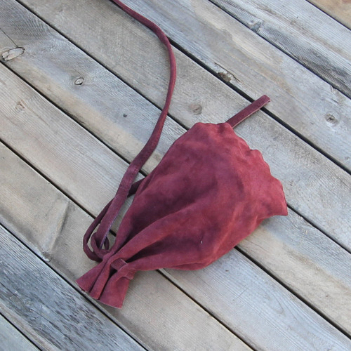 Silk Weavers Suede Long Journey Bag