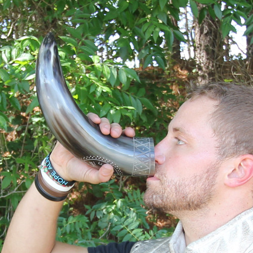 Drinking Horn With Vegvisir Desgin