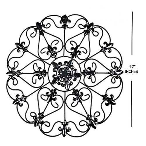 Elegant Round Scroll Wall Decoration