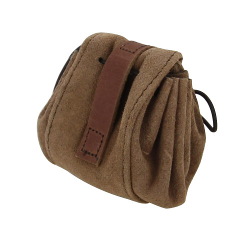 Suede Leather Bag  With Viking Design