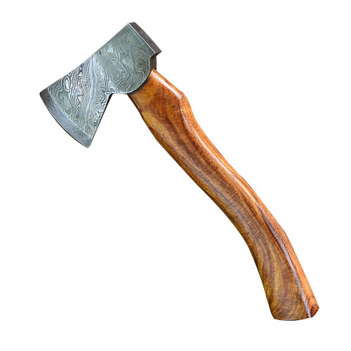Vengeful Dwarf Hand Forged Damascus Steel Outdoor Axe