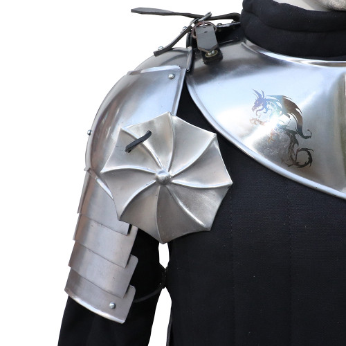 Thirst for War Medieval Armor Pauldron with Rondel Set