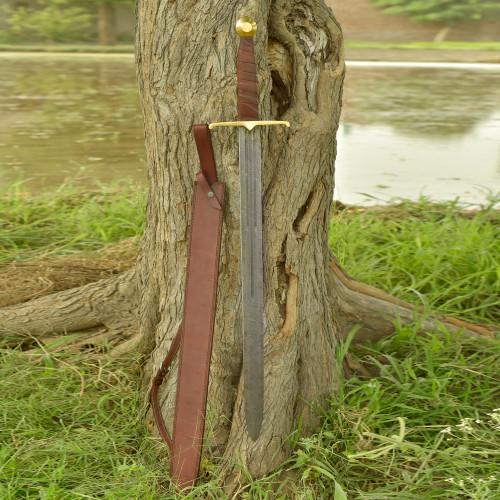 Full Tang Battle Cry Damascus Berserker Sword