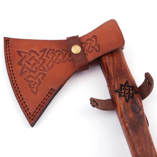 Herleifr Traditional Medieval Viking Battle Axe   Engraved Handle  