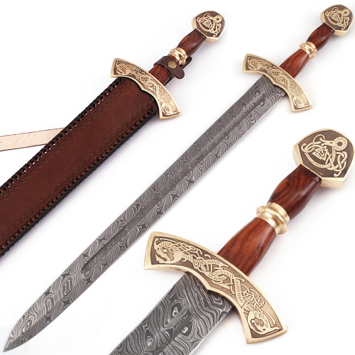 Warriors Call Damascus Steel Carolingian Viking Sword
