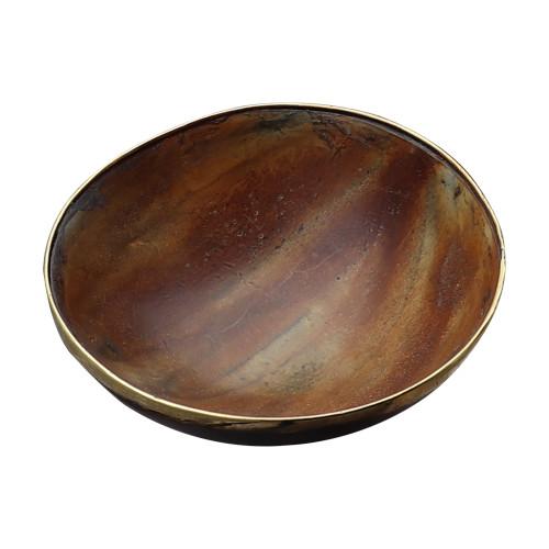 Einar Medieval Natural Horn Feasting Trinket Decorative Bowl