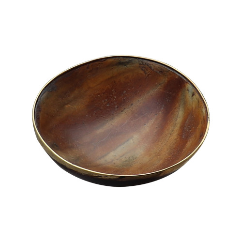 Einar Medieval Natural Horn Feasting Trinket Decorative Bowl