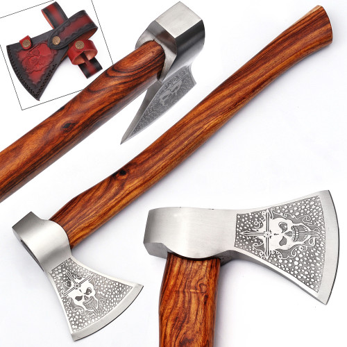 Immoral Skull and Cross Outdoor Hammer Head Axe