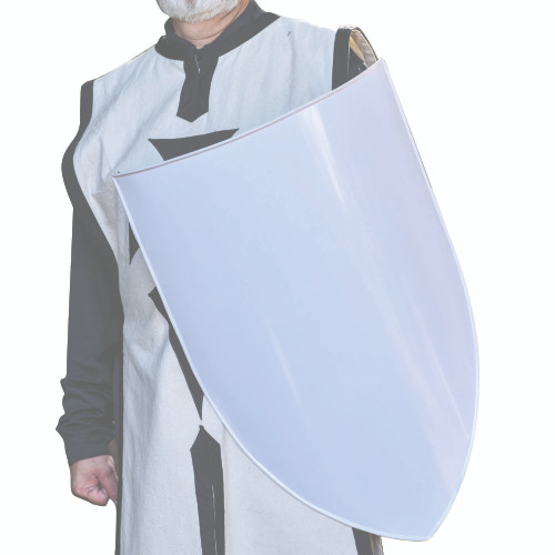 Classic European Medieval Blank White Customizable Heater Shield