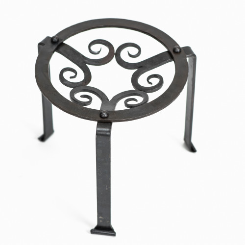 Hand Forged Medieval Iron Grill Stand