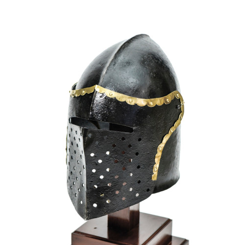 Armory Replicas ™ The Cursed Black Knight Functional Medieval Helmet Armor
