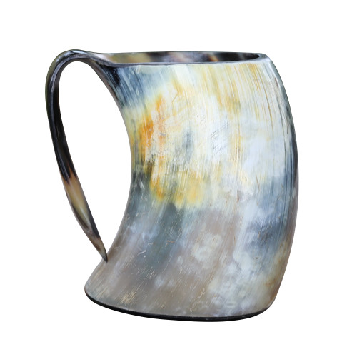 The Hooded Raven ™ Distressed Raider Extra Large Viking Drinking Horn Tankard Mug [XL]