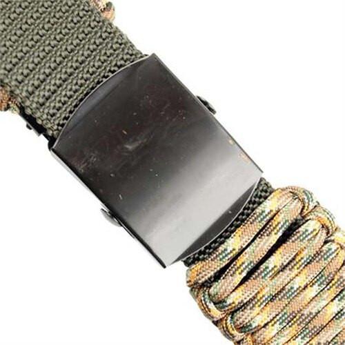 550 Paracord Survival Belt - Autumn Camo