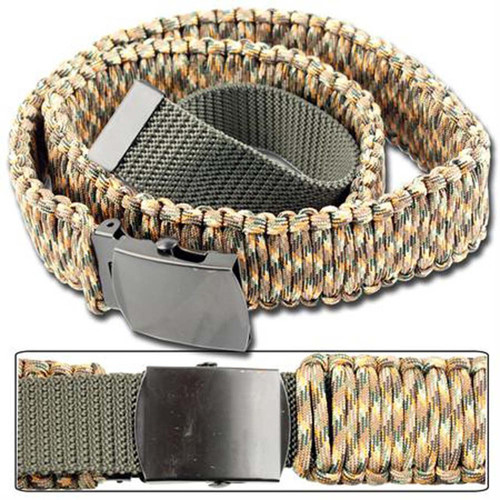 550 Paracord Survival Belt - Autumn Camo
