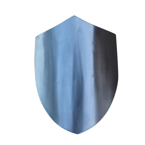 14th Century Four Point Functional Polished Steel Medieval Battle Shield