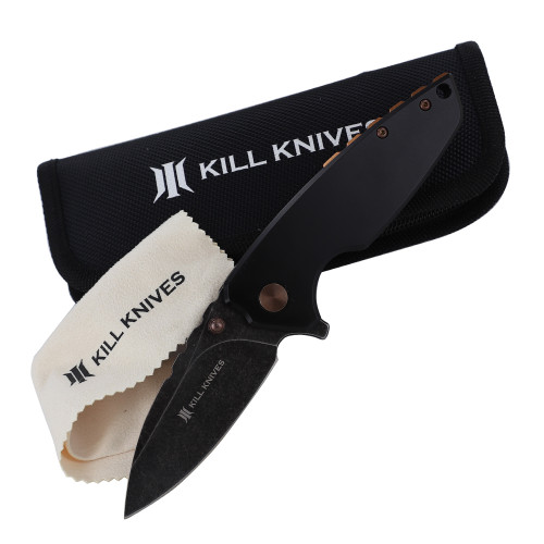 KILL KNIVES ™ Nightshade High Quality D2 Steel Ball Bearing Spring Assist Pocket Knife