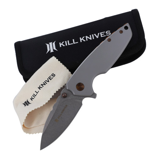 KILL KNIVES ™ I'll Get Even High Quality D2 Steel Ball Bearing Spring Assist Pocket Knife