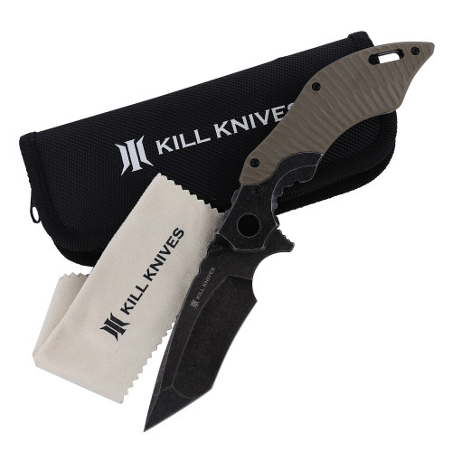 KILL KNIVES™ Bad Company Ball Bearing Spring Assisted Tanto Blade Pocket Knife