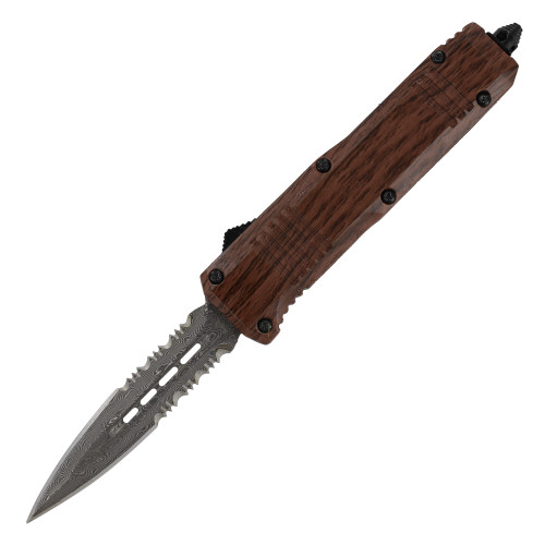Splinter Hemorrhage Miniature Damascus Steel Automatic Out The Front Knife
