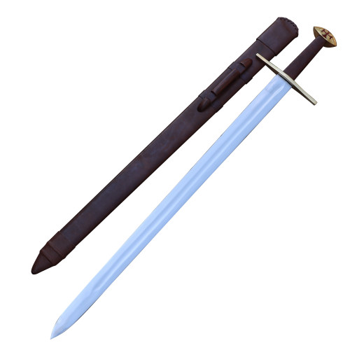 Medieval European Functional Full Tang Knightly Arming Sword with Templar Cross