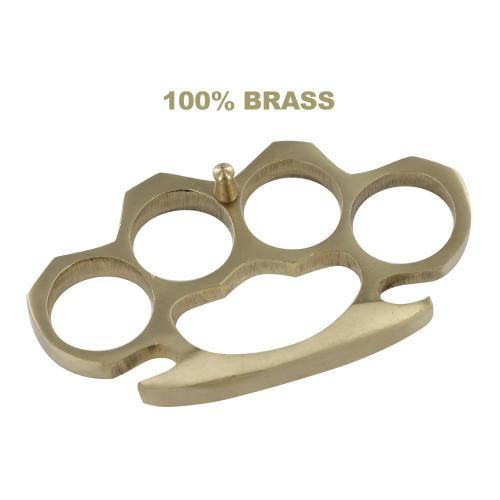 Knock Em' Dead 100% Pure Brass Novelty Knuckle Buckle