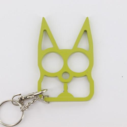 Cat Self Defensive Key Chain Chartreuse Green