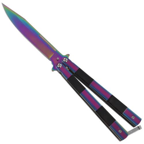 Spit Venom Stainless-Steel Heavy-Duty Fanning Butterfly Knife