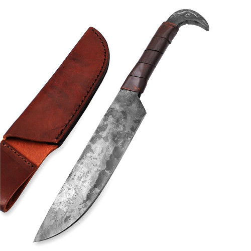 Traditional Viking Hand Forged Full Tang Outdoor Hunting Knife