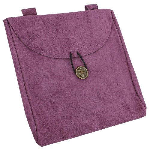 Touch of Royalty Medieval Purple Suede Leather Renaissance Style Belt Pouch Bag