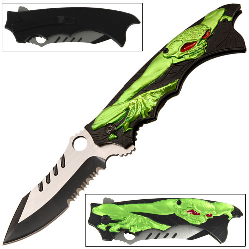 Mutant Creeper Spring Assist Pocket Knife