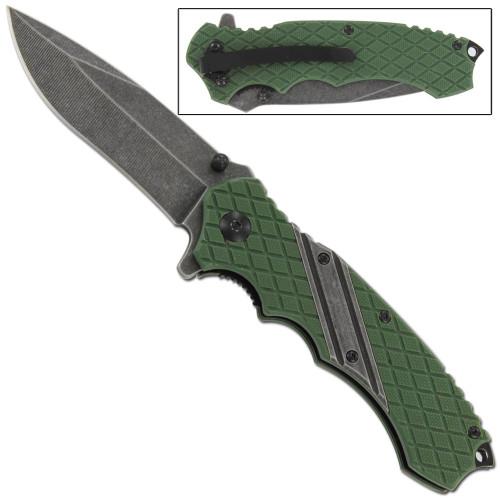 Jackals Rage Drop Point Spring Assist Knife