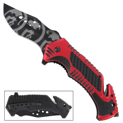 Tactical Assisted Spring Blade Hells Fury Knife