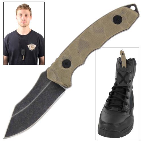 Glacier Park Tactical Neck Boot Knife
