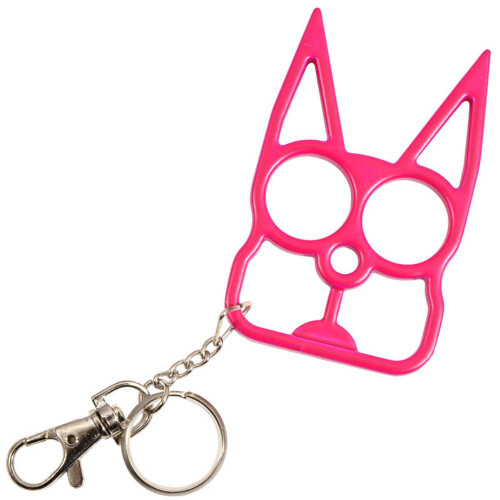Cat Self Defensive Key Chain Hot Pink