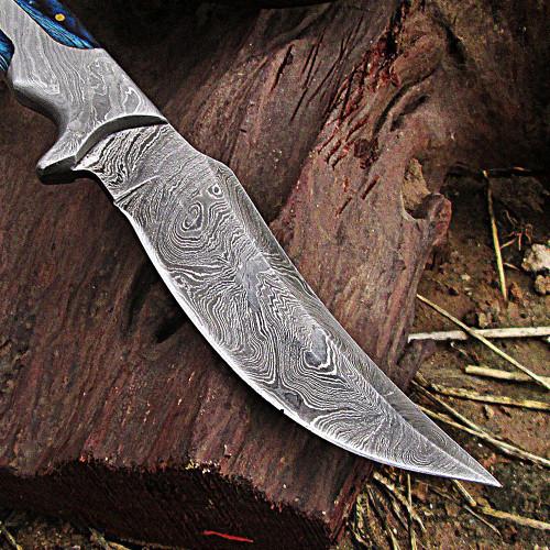 Damascus Rio Grande Lone Rider Full Tang Knife