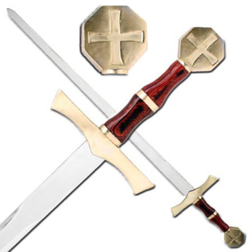 Crusader Knights Honor Cross Sword