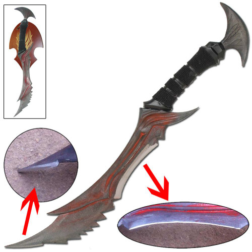 Demon Daedric Warrior Quest Role Play Dagger Full Size Replica