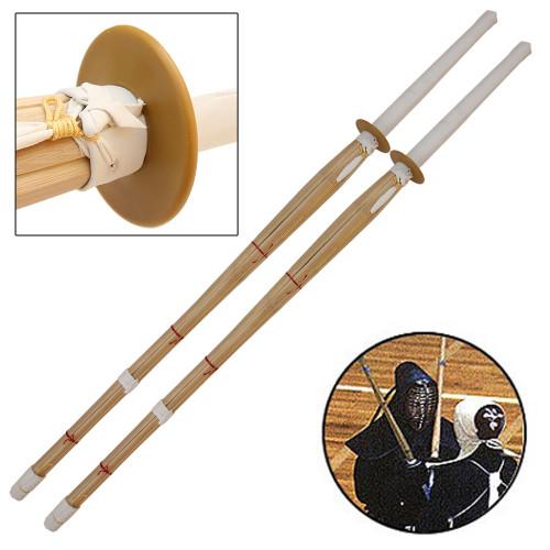 Double Training Bamboo Shinai Sword Set Sheath Combo