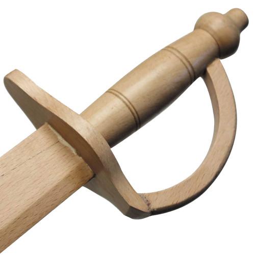 Black Bart Wooden Pirate Practice Scimitar Sword