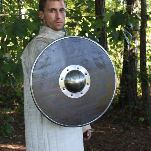 Norse Viking Black Death Shield