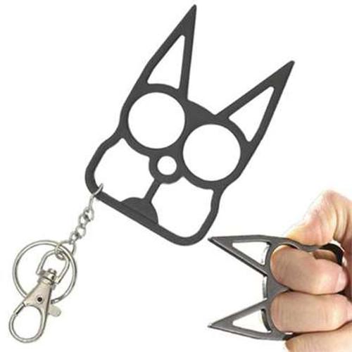 Knuckle Black Cat Defense Weapon Keychain