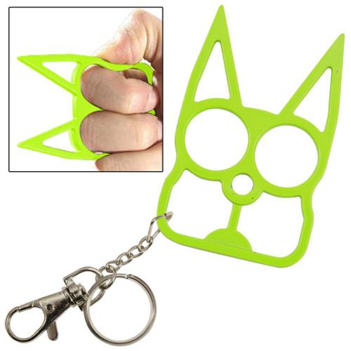 Cat Self Defensive Key Chain Neon Green