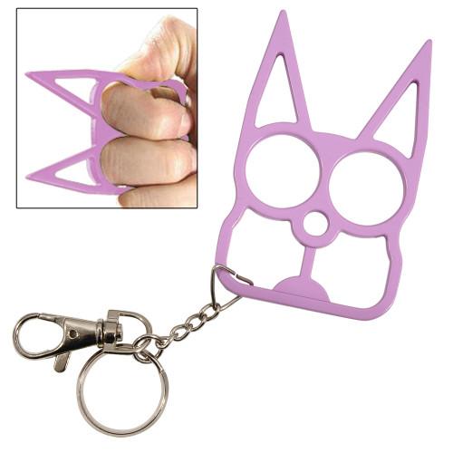 Cat Self Defensive Key Chain Purple
