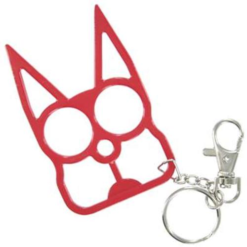 Cat Self Defensive Key Chain Red